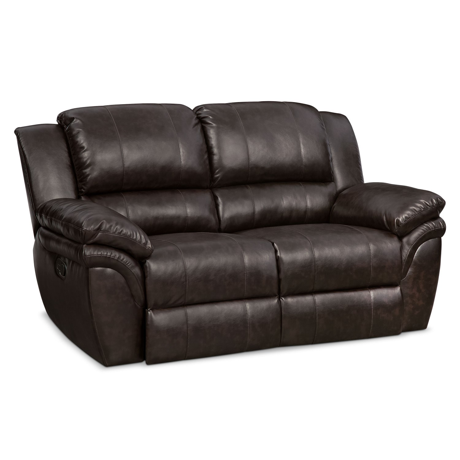 [Omni Brown Manual Reclining Loveseat]