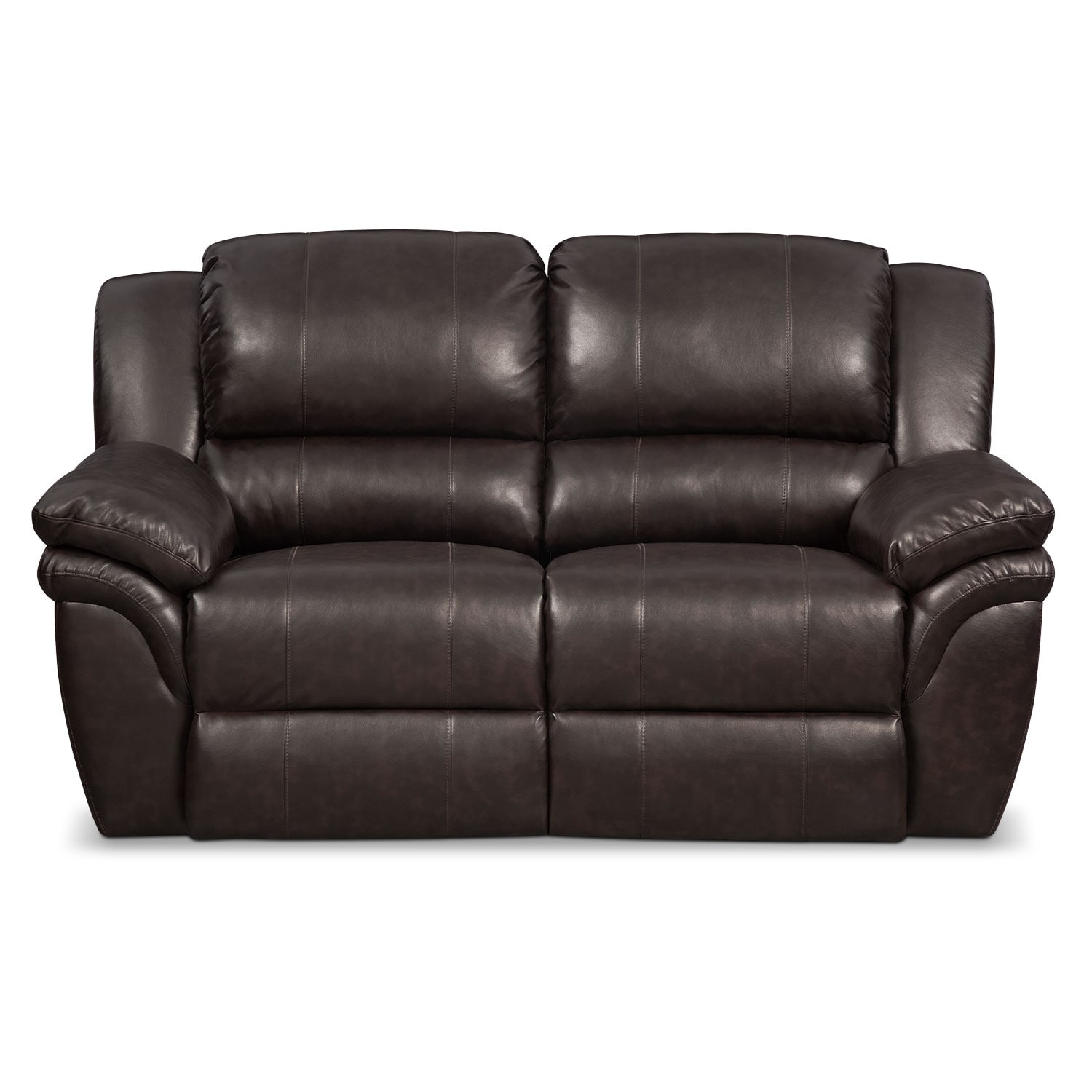 Click to change image.  sc 1 st  Value City Furniture & Aldo Manual Reclining Loveseat - Brown | Value City Furniture islam-shia.org