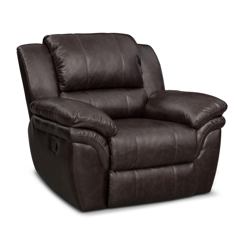 Living Room Furniture - Omni Brown Manual Recliner