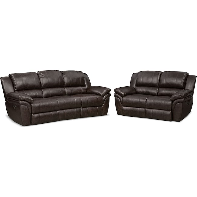 Aldo Manual Reclining Sofa And Loveseat Set Value City