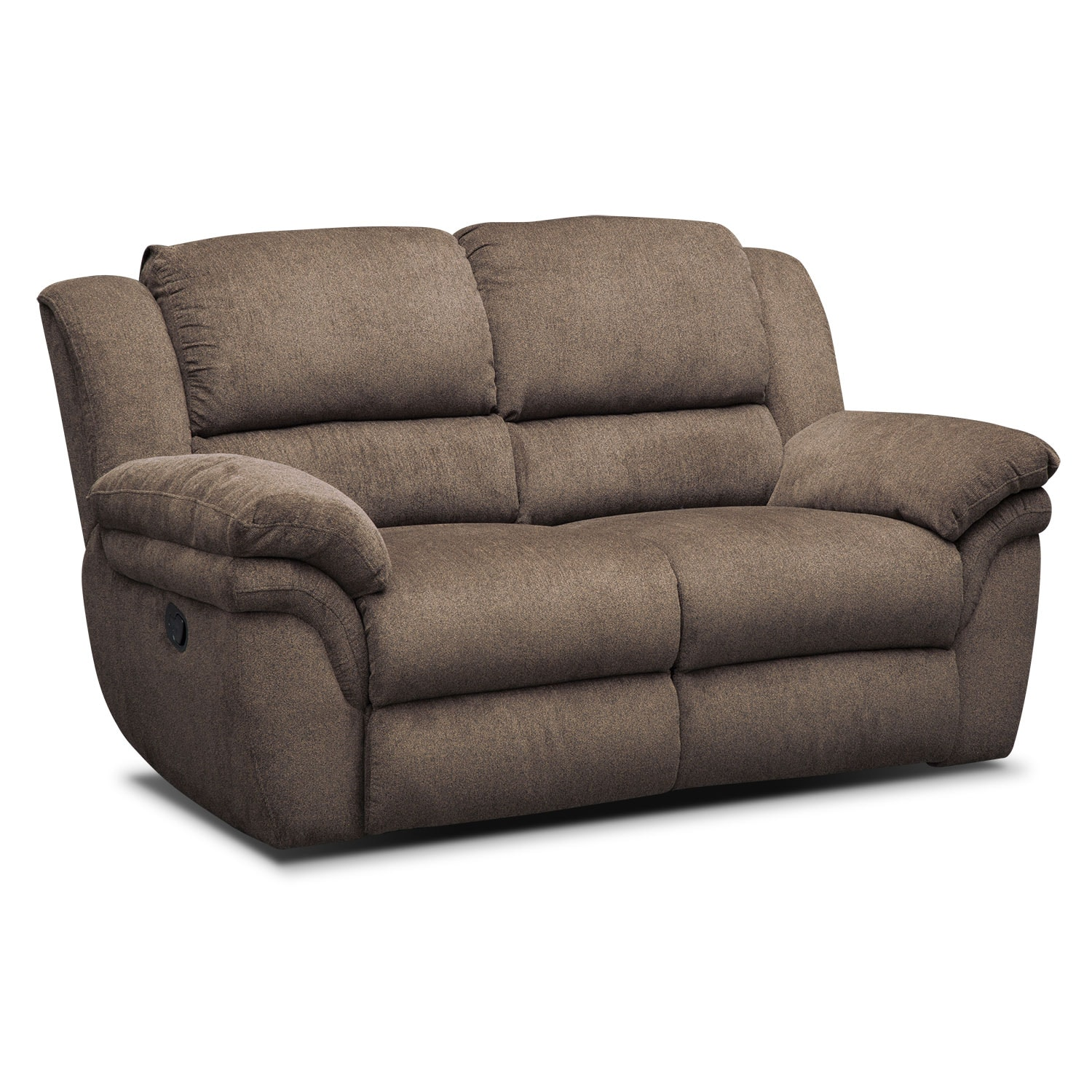 Aldo Manual Reclining Loveseat Mocha Value City Furniture