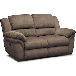 Aldo Manual Reclining Loveseat - Mocha