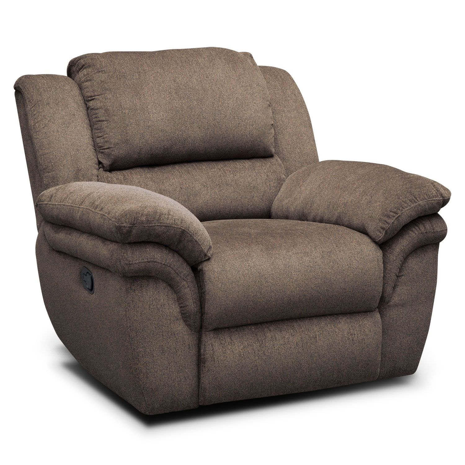 Living Room Furniture - Omni Mocha Manual Recliner