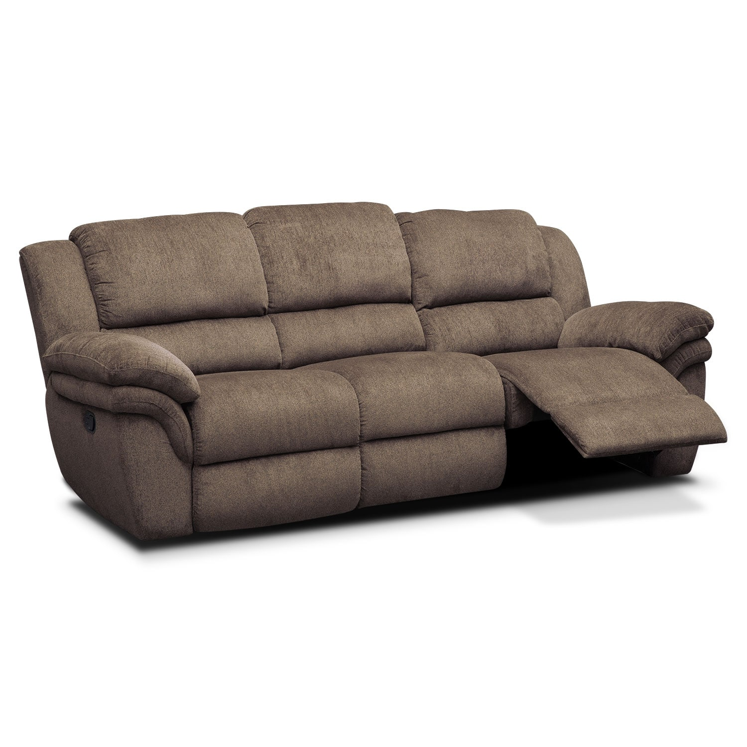 Furniture Com: Aldo Manual Reclining Sofa - Mocha