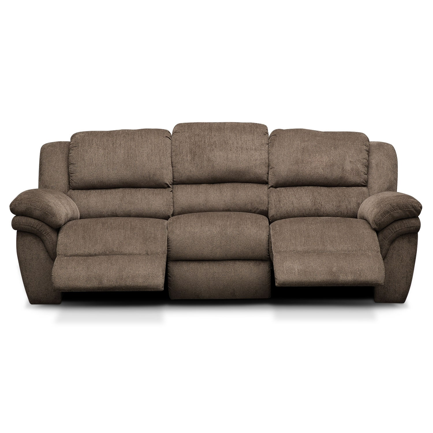 Aldo Manual Reclining Sofa Mocha Value City Furniture