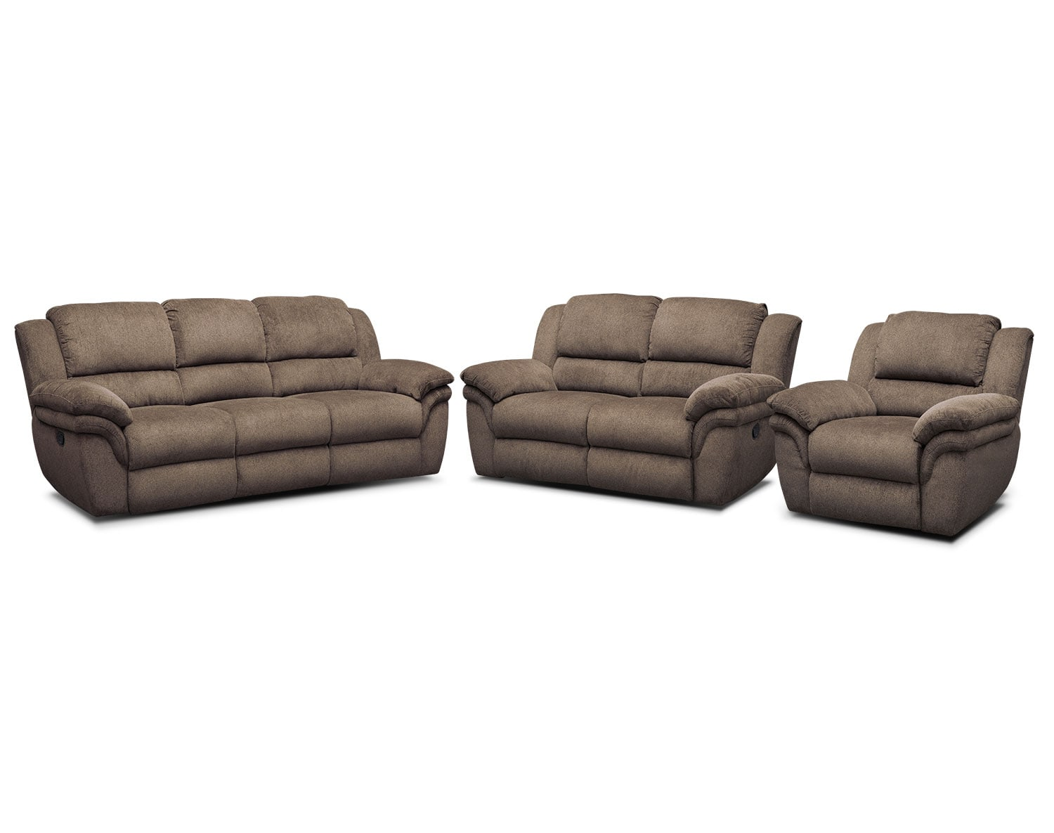 The Aldo Manual Reclining Living Room Collection- Mocha