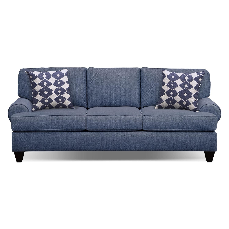 Bailey Blue 91 Quot Innerspring Sleeper Sofa Value City
