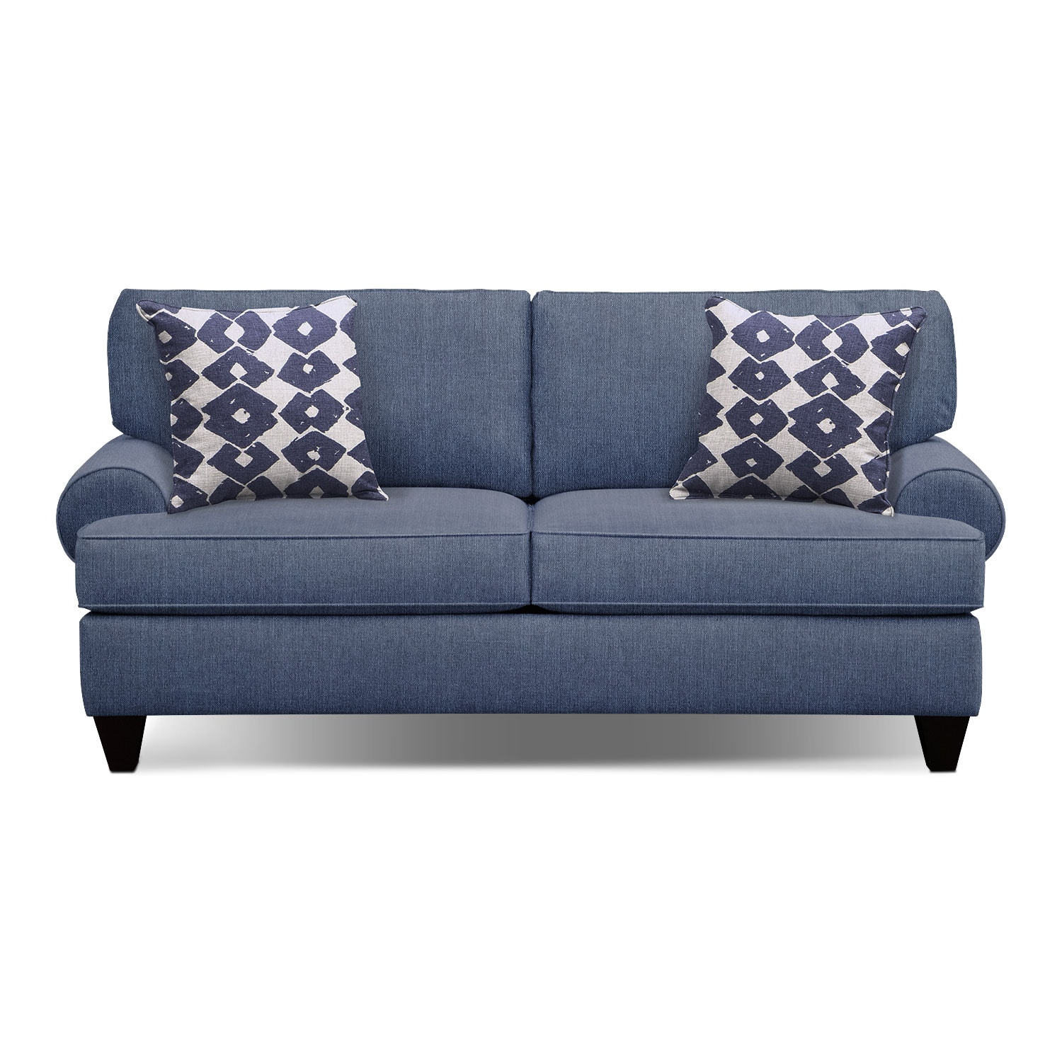 "Bailey Blue 79"" Memory Foam Sleeper Sofa"