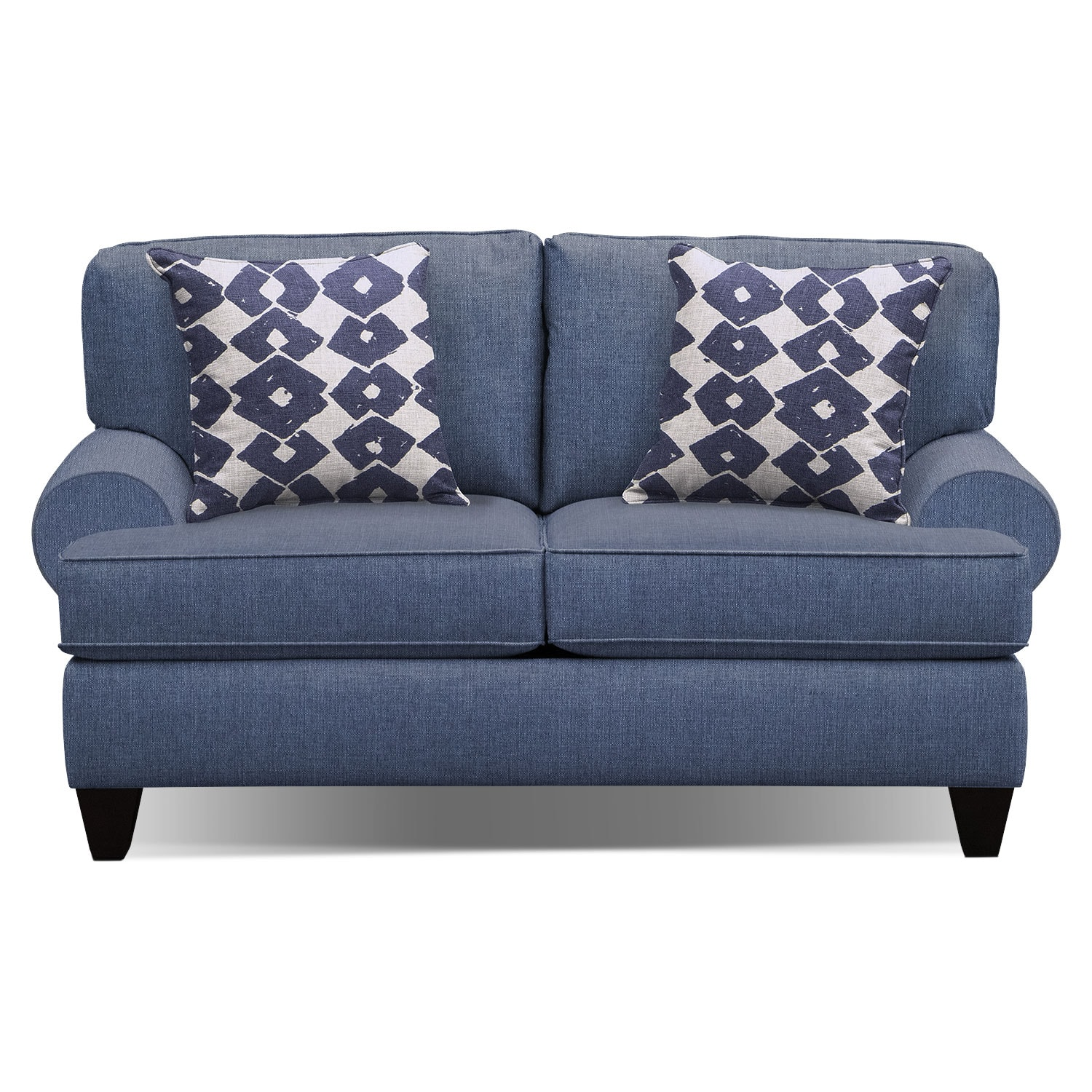 Living Room Furniture - Bailey Blue Twin Sleeper Sofa