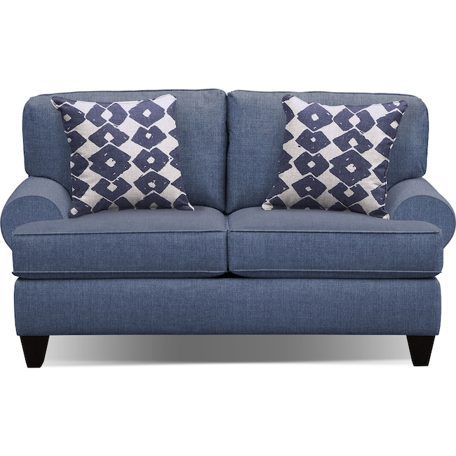 "Living Room Furniture - Bailey Blue 67"" Sofa"