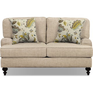 "Avery Taupe 62"" Innerspring Sleeper Sofa"