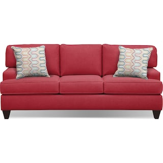 "Conner Red 87"" Innerspring Sleeper Sofa"