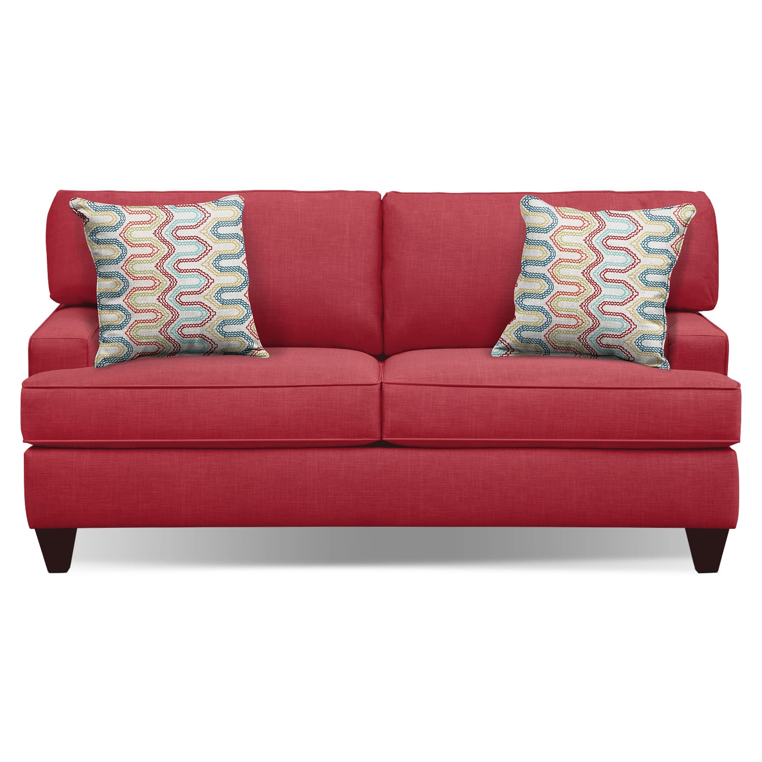 "Living Room Furniture - Conner Red 75"" Sofa"