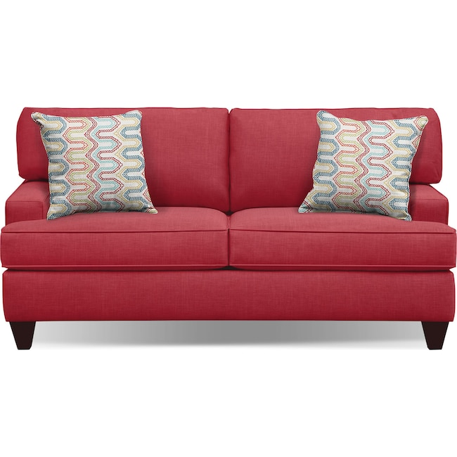 """Living Room Furniture - Conner Red 75"""" Sofa"""