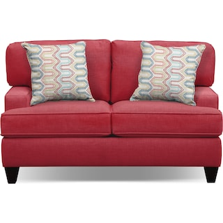 "Conner Red 63"" Sofa"