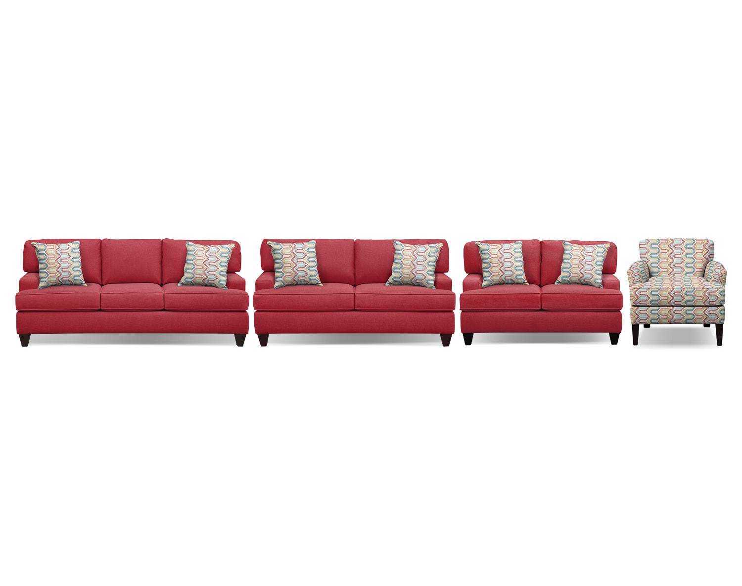 The Conner Red Living Room Collection | Value City Furniture and ...