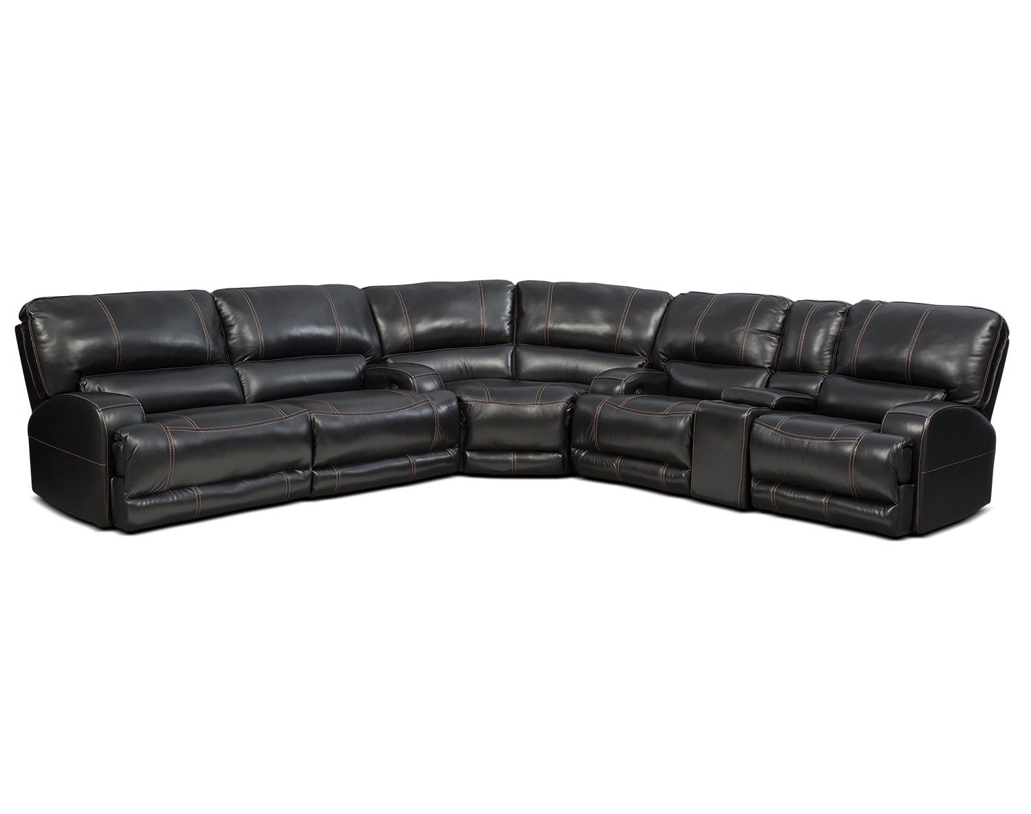 The Barton Black Sectional Collection