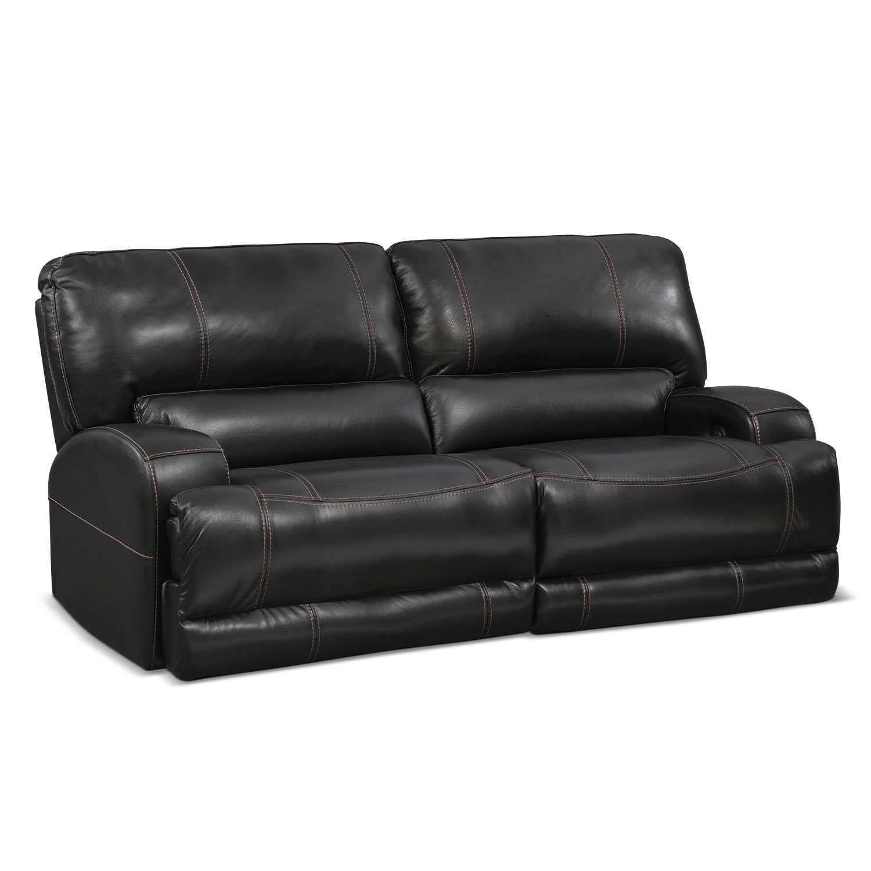 Barton Power Power Reclining Sofa - Black