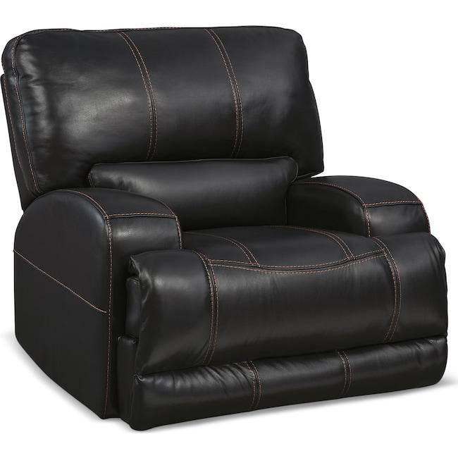 Living Room Furniture - Barton Power Recliner - Black