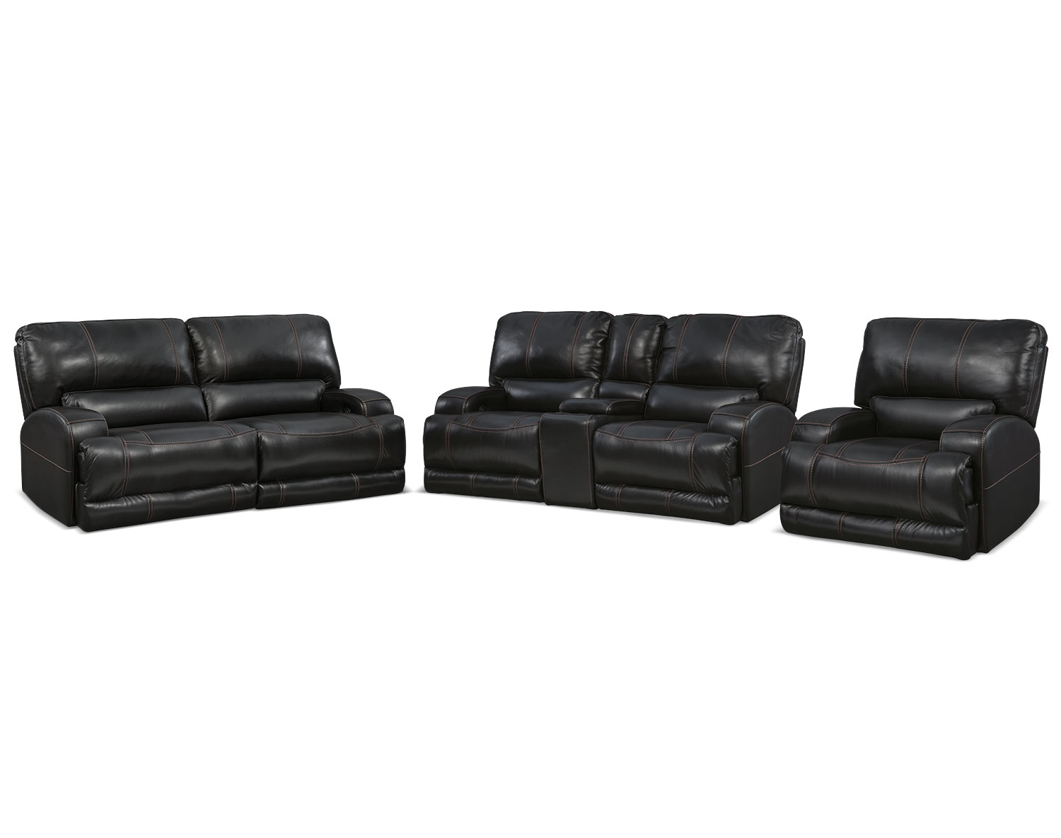 The Barton Black Living Room Collection