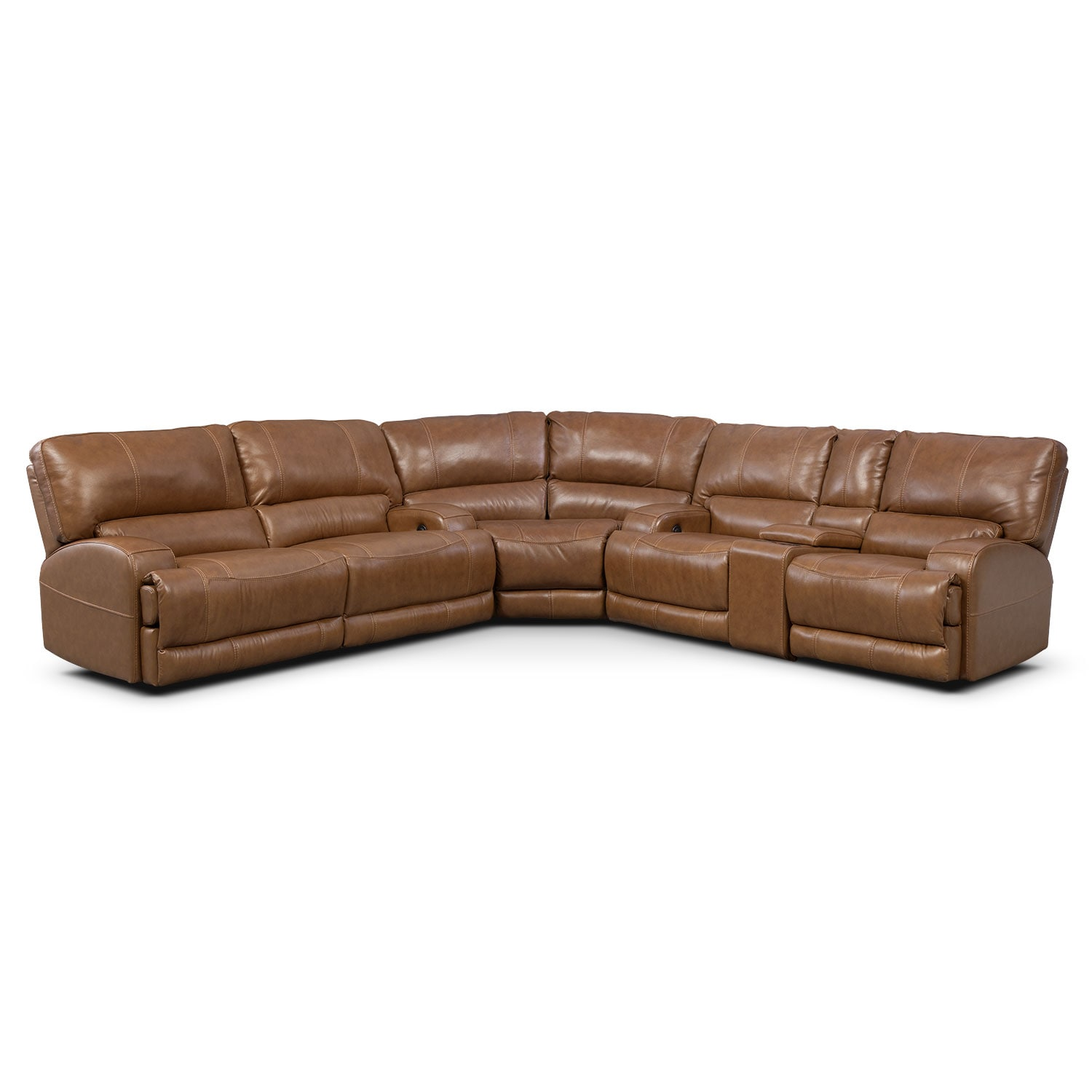 Barton Camel 3 Pc. Power Reclining Sectional with Left-Facing Sofa