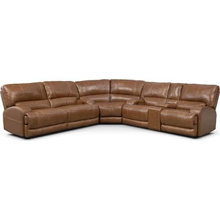 Barton 3-Piece Power Reclining Sectional with 1 Console - Camel