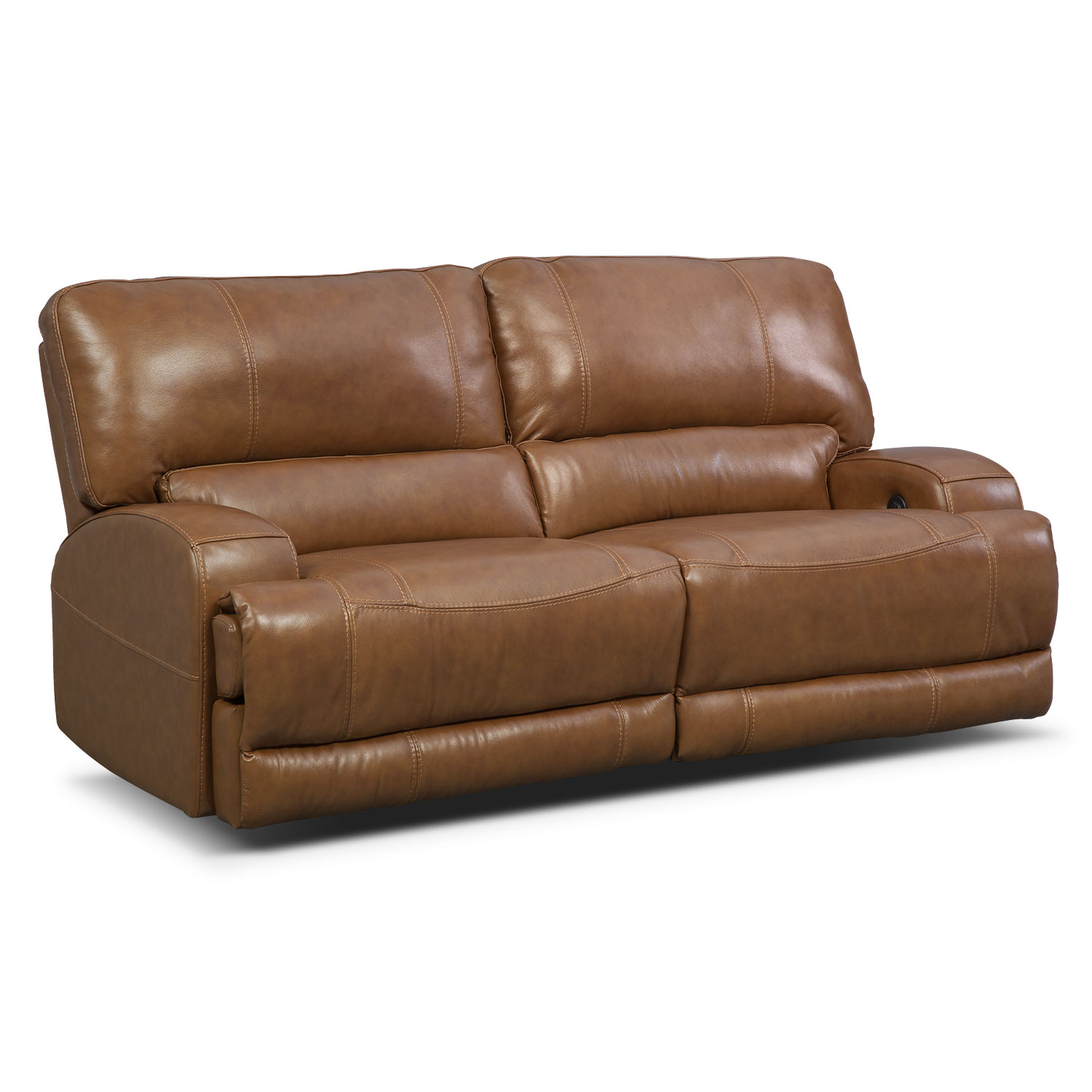Barton Power Reclining Sofa Camel