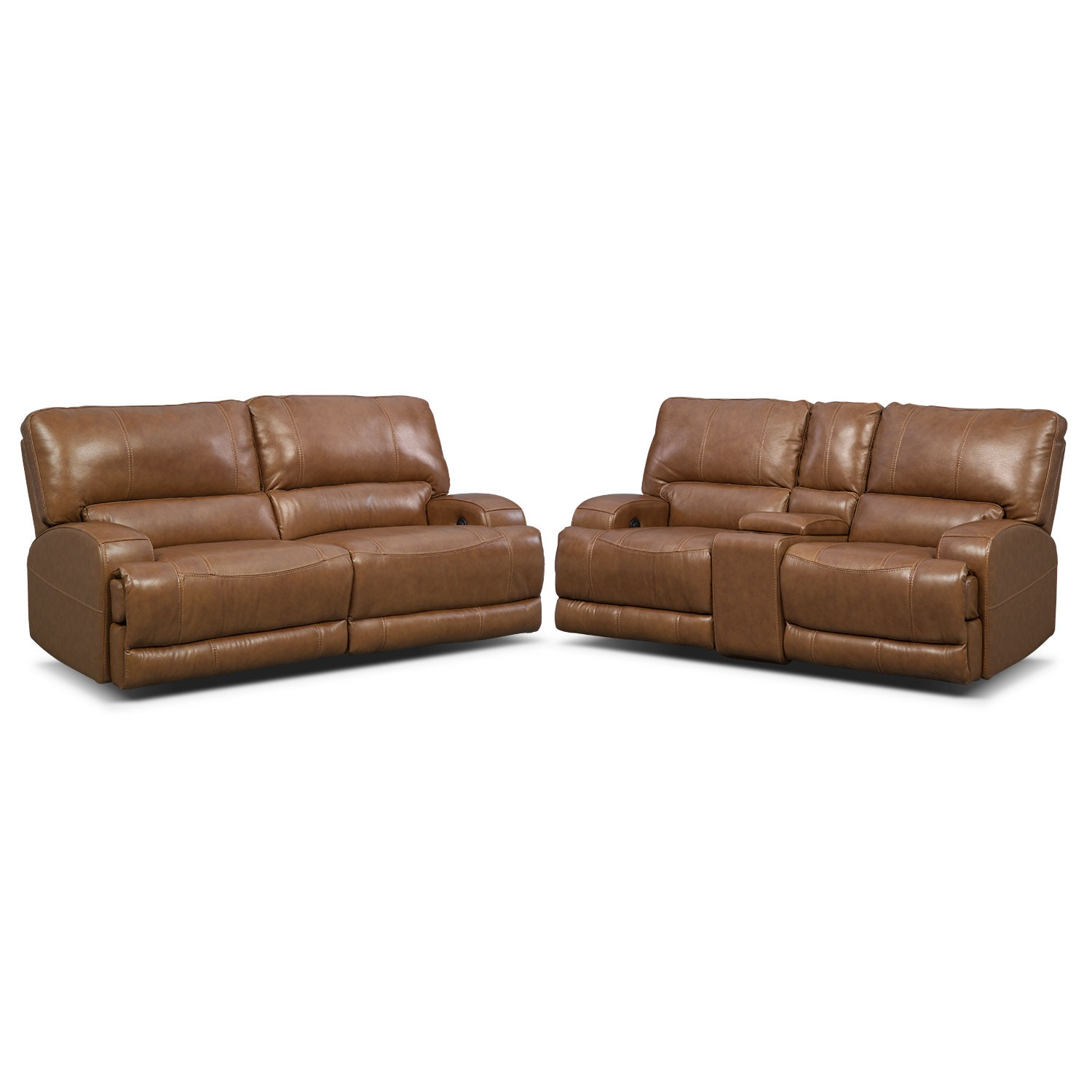 Living Room Furniture - Barton Camel Living Room 2 Pc. Power Reclining Living Room