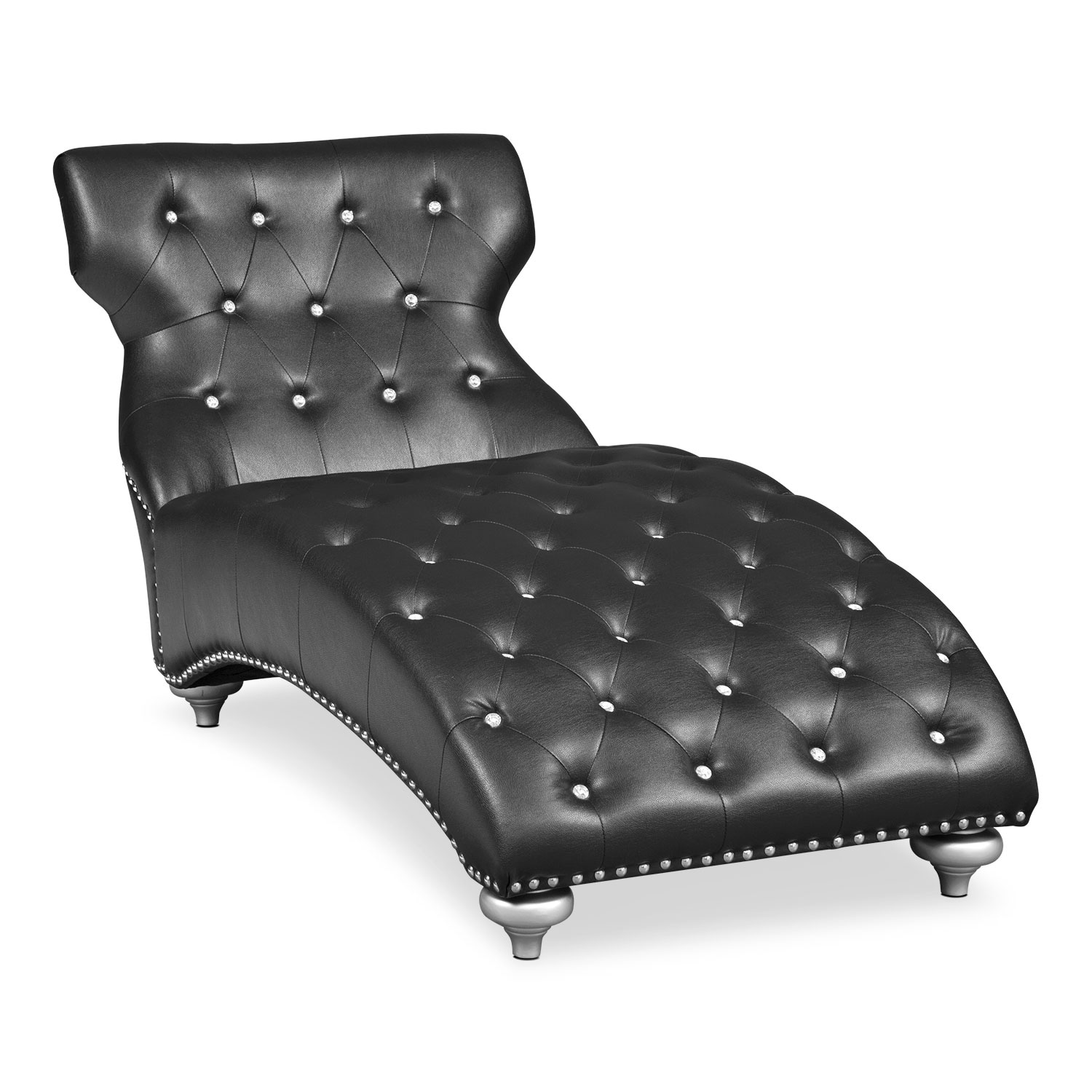 Accent and Occasional Furniture - Chloe Chaise - Black