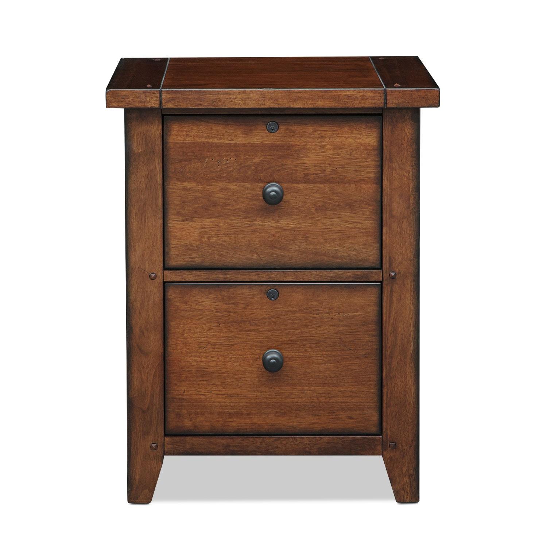 Morgan 2 Drawer File Cabinet   Brown