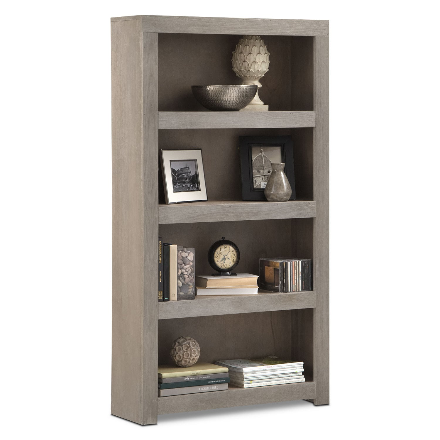 "Home Office Furniture - Bricklin 60"" Bookcase - Driftwood"