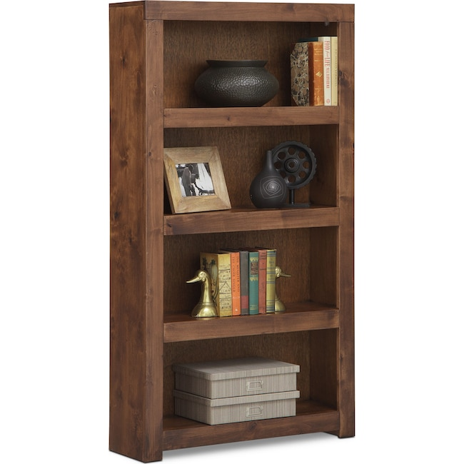 "Home Office Furniture - Bricklin 60"" Bookcase - Fruitwood"