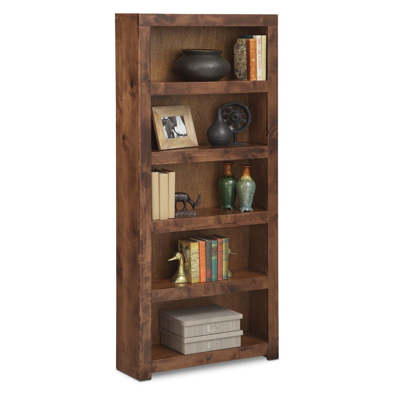 "Bricklin 72"" Bookcase - Fruitwood"