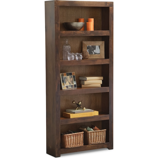 """Home Office Furniture - Bricklin 72"""" Bookcase - Tobacco"""