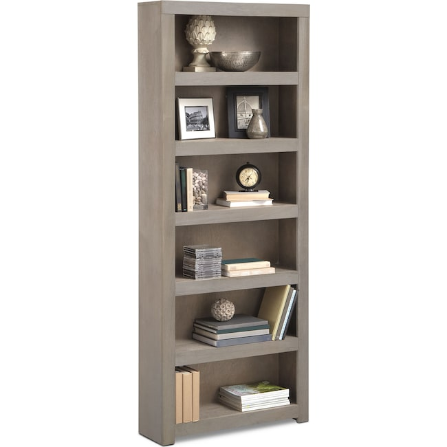 "Home Office Furniture - Bricklin 84"" Bookcase - Driftwood"