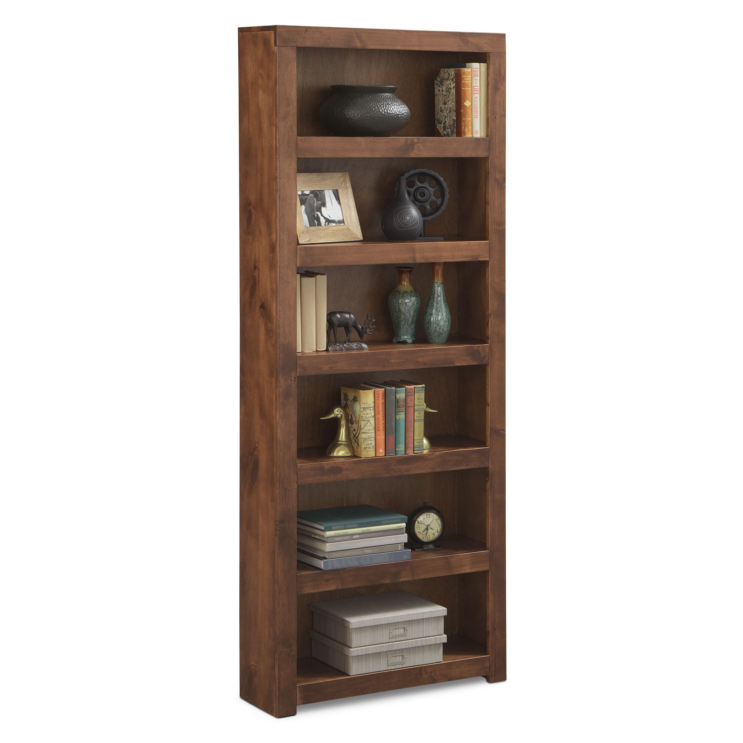 "Accent and Occasional Furniture - Bricklin 84"" Bookcase - Fruitwood"