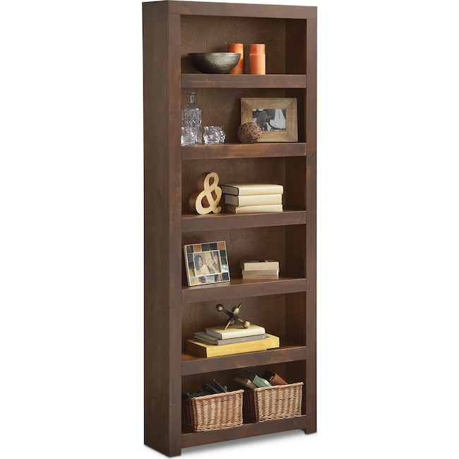 "Accent and Occasional Furniture - Bricklin 84"" Bookcase - Tobacco"