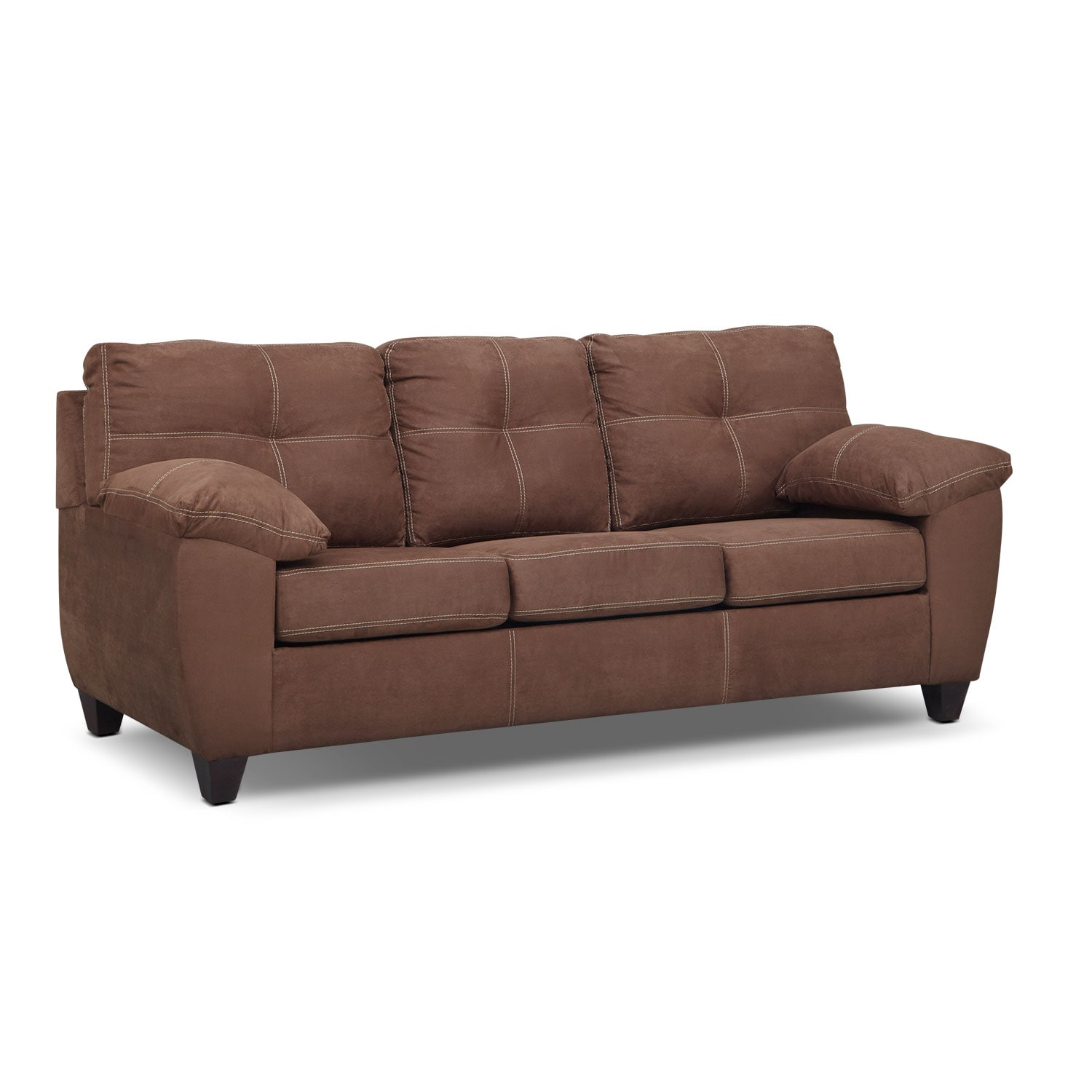 Living Room Furniture - Rialto Coffee Queen Sleeper Sofa- Innerspring
