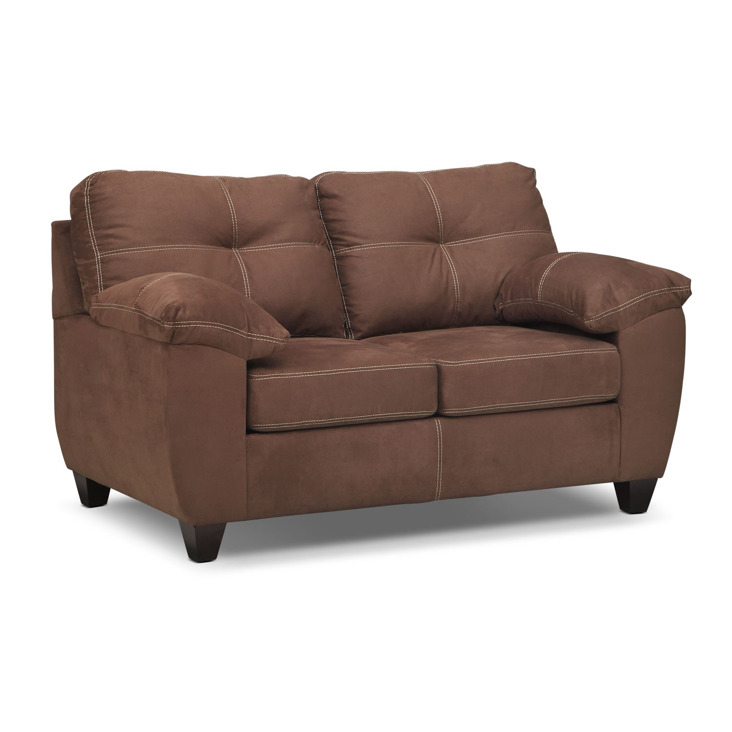 Rialto Loveseat - Coffee