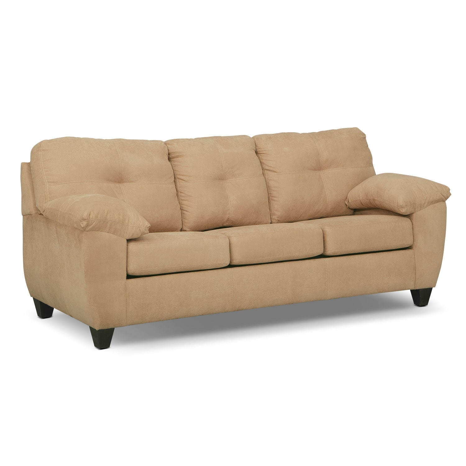 Rialto Queen Memory Foam Sleeper Sofa - Camel