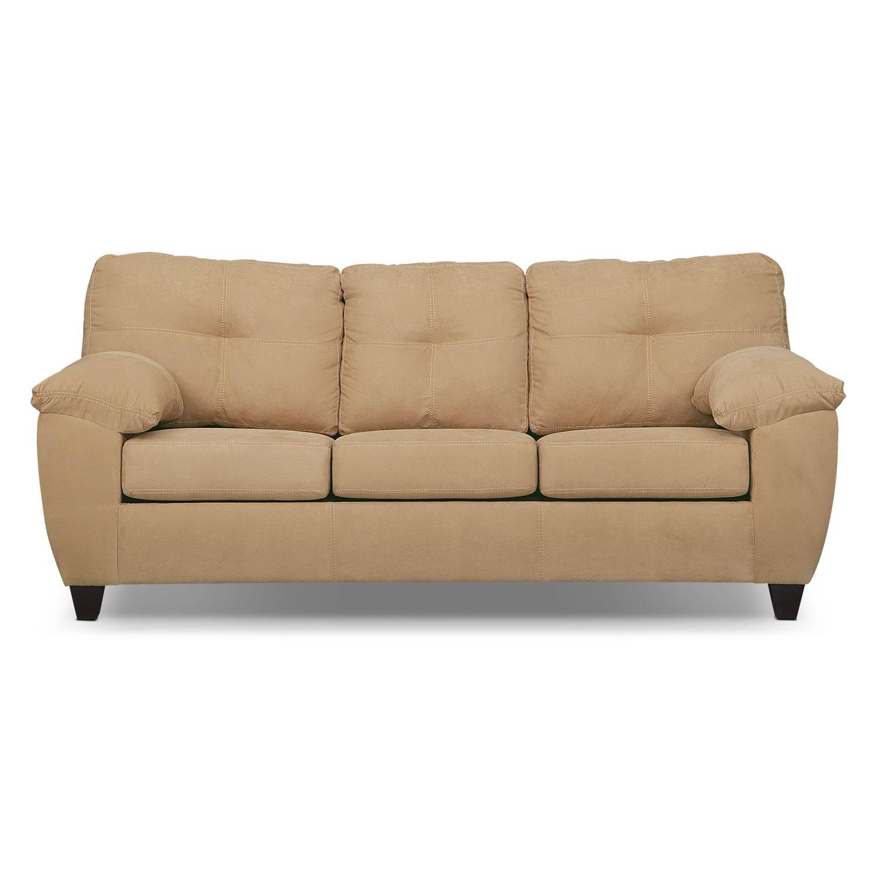 ricardo queen memory foam sleeper sofa camel value city