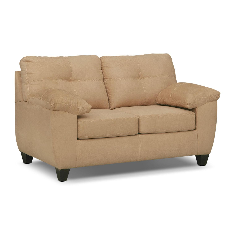 Living Room Furniture - Rialto Camel Loveseat