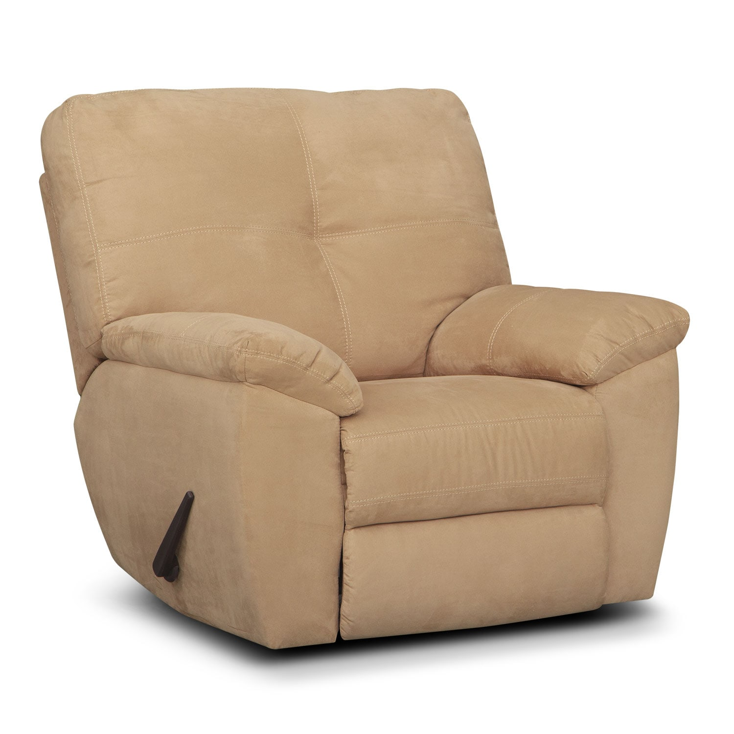 Living Room Furniture - Rialto Glider Recliner - Camel