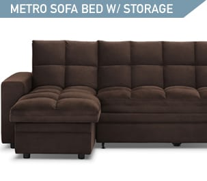 Shop the Metro 2 piece Sofa Bed with Storage