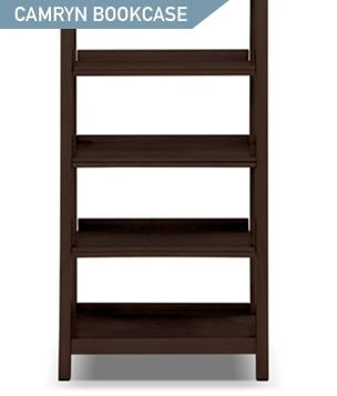 Shop the Camryn Bookcase with pull out shelves