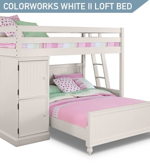 Shop the Colorworks White II Loft Bed