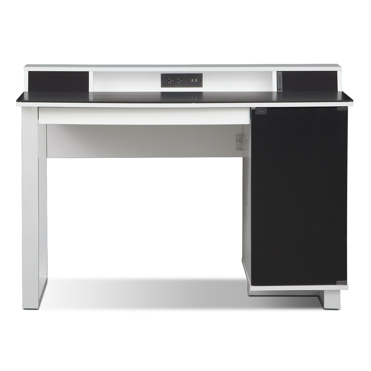 Design White Office Desk pacer home office desk with sound white value city furniture click to change image