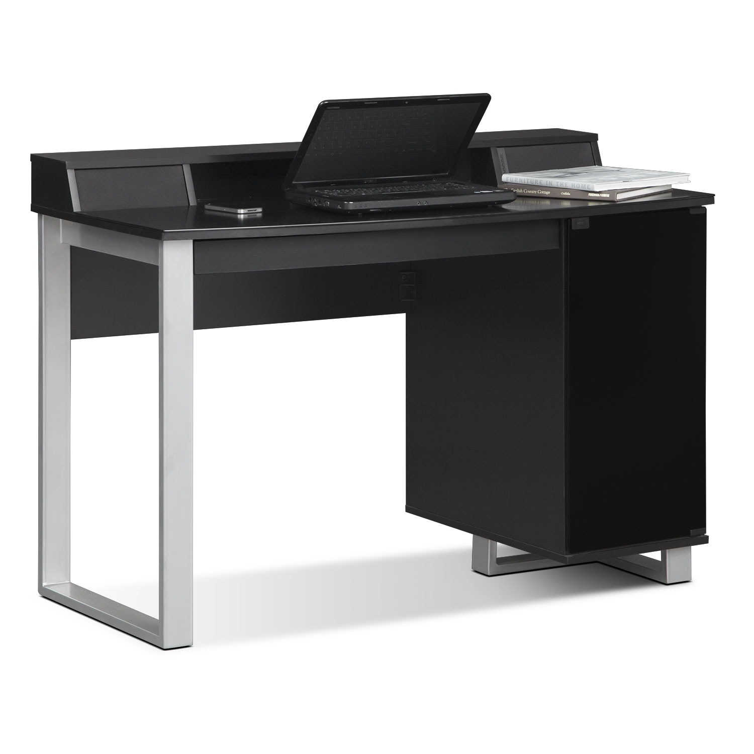 Pacer Home Office Desk With Sound   Black