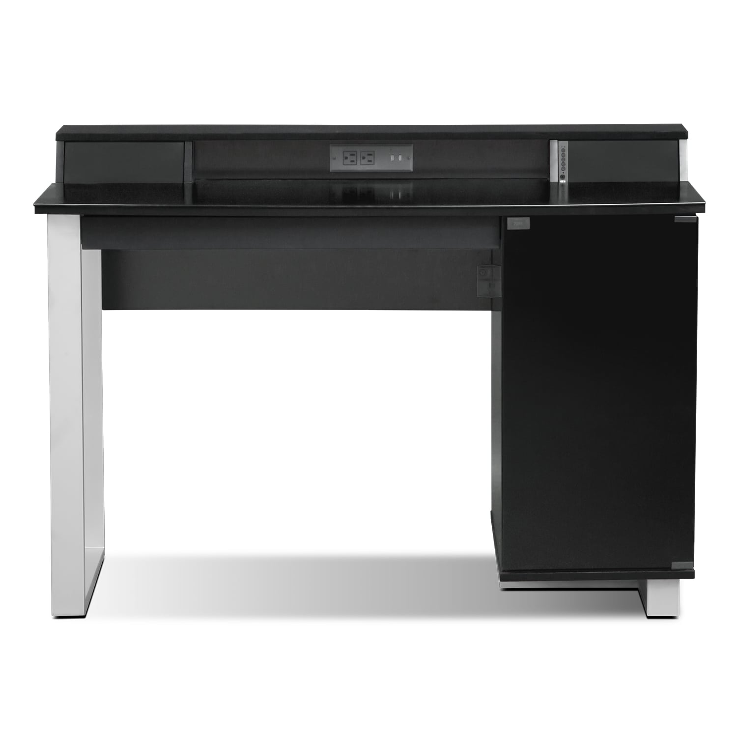 Pacer Home Office Desk With Sound - Black