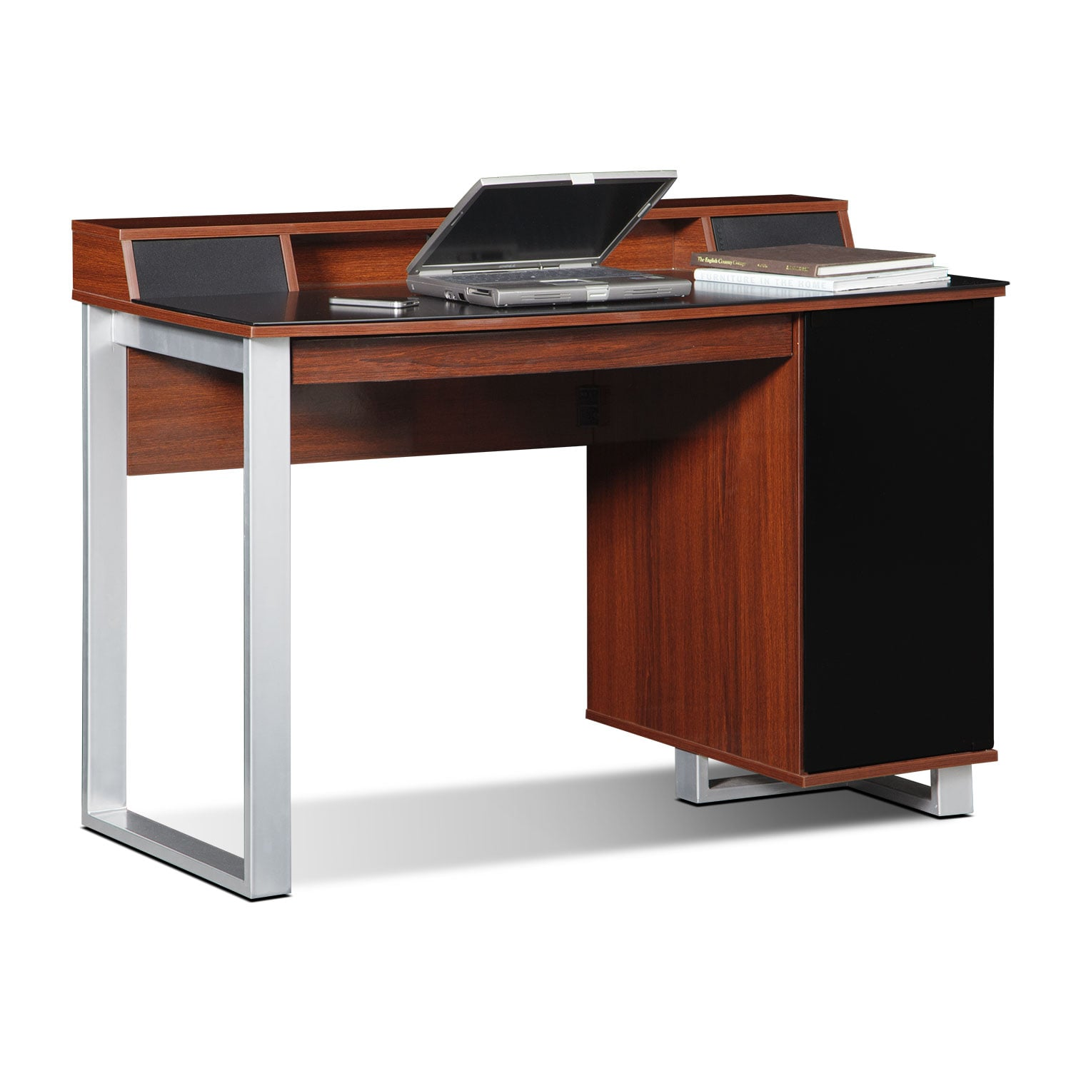 Home Office Furniture - Pacer Home Office Desk with Sound - Cherry